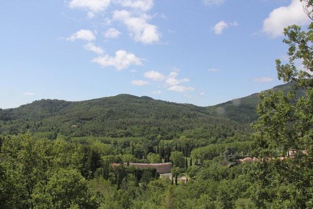 La vue de la terrasse du gîte...