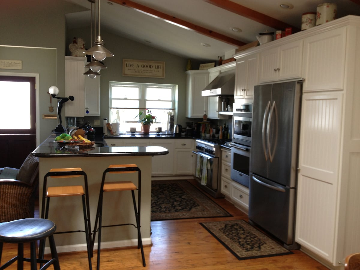 View of the kitchen from the dining room