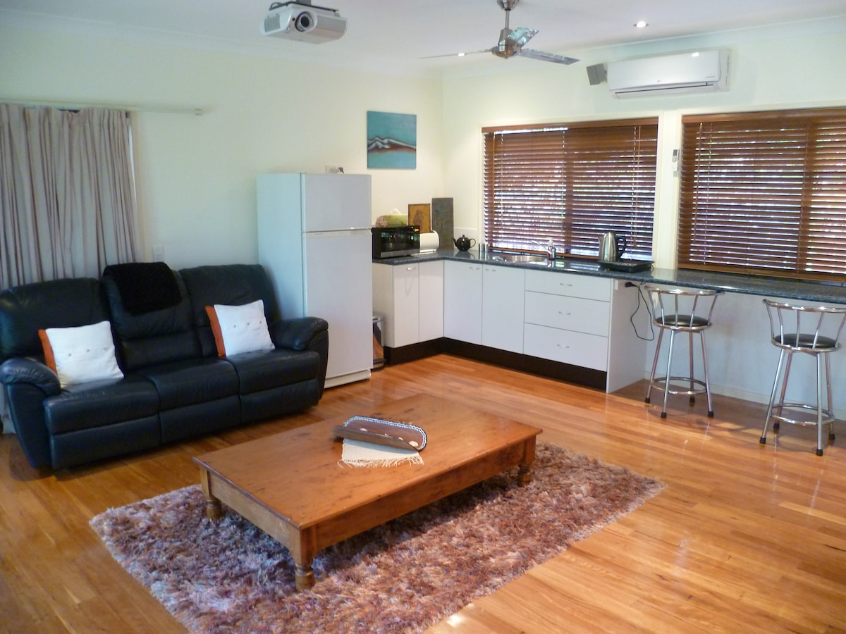 Living area with kitchen facilities