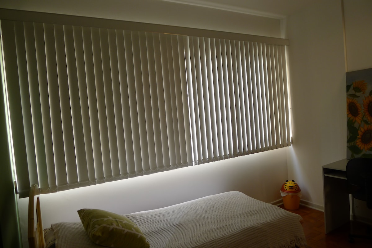 With open shutters, this room has plenty of day-light!