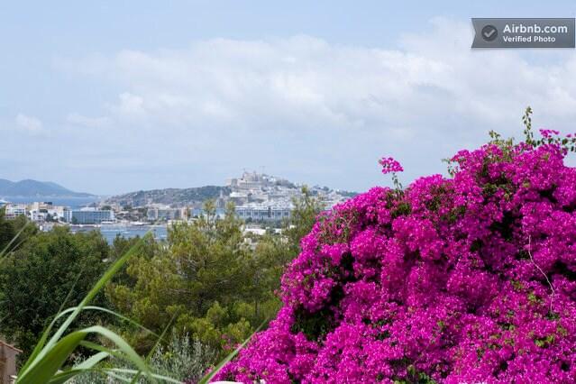 Dalt Vila from our terrace..