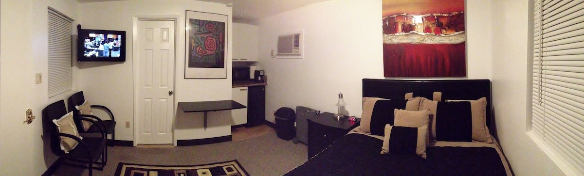 View of Bungalow living space, and Kitchenette