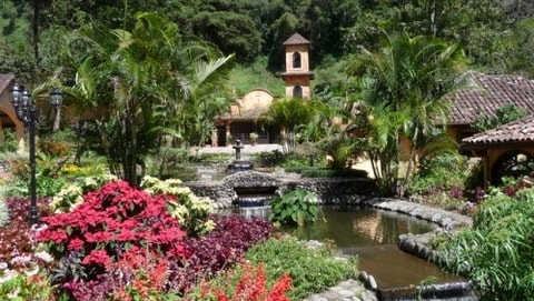 Beautifully landscaped gardens of Valle Escondido, otherwise known as the Hidden Valley in Paradise