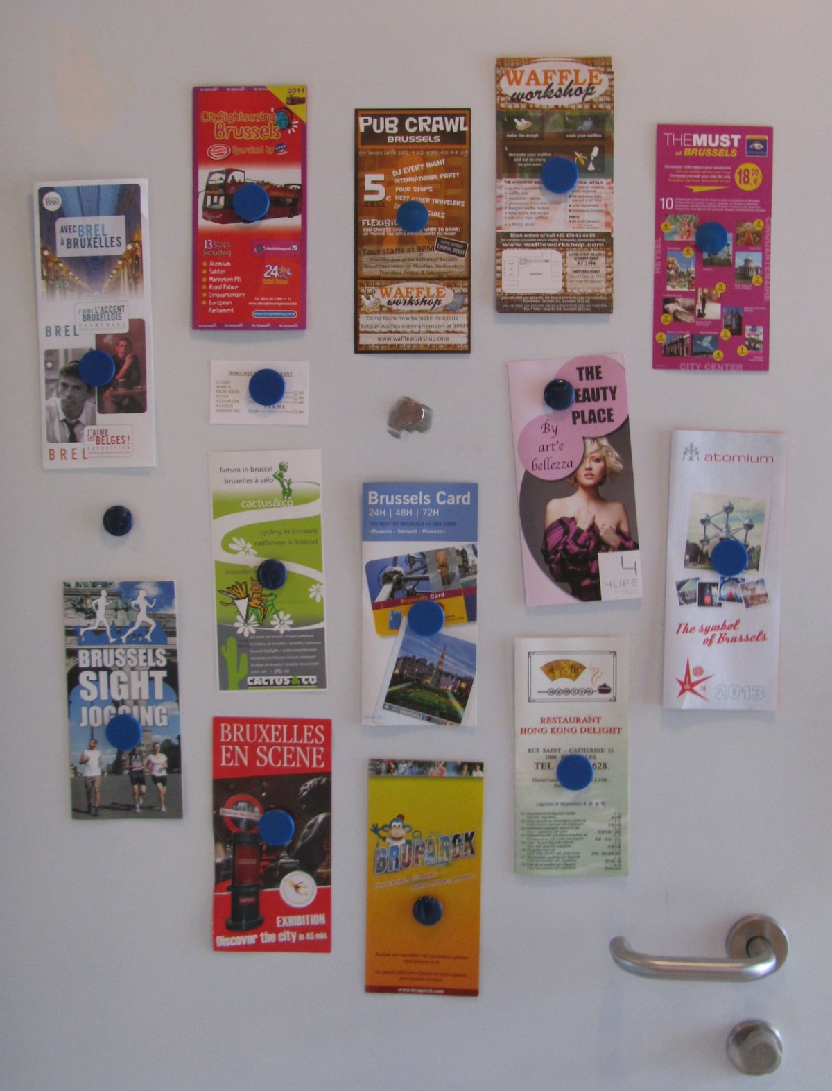 Many leaflets and shopping caddy cart (not captured here) at your disposal