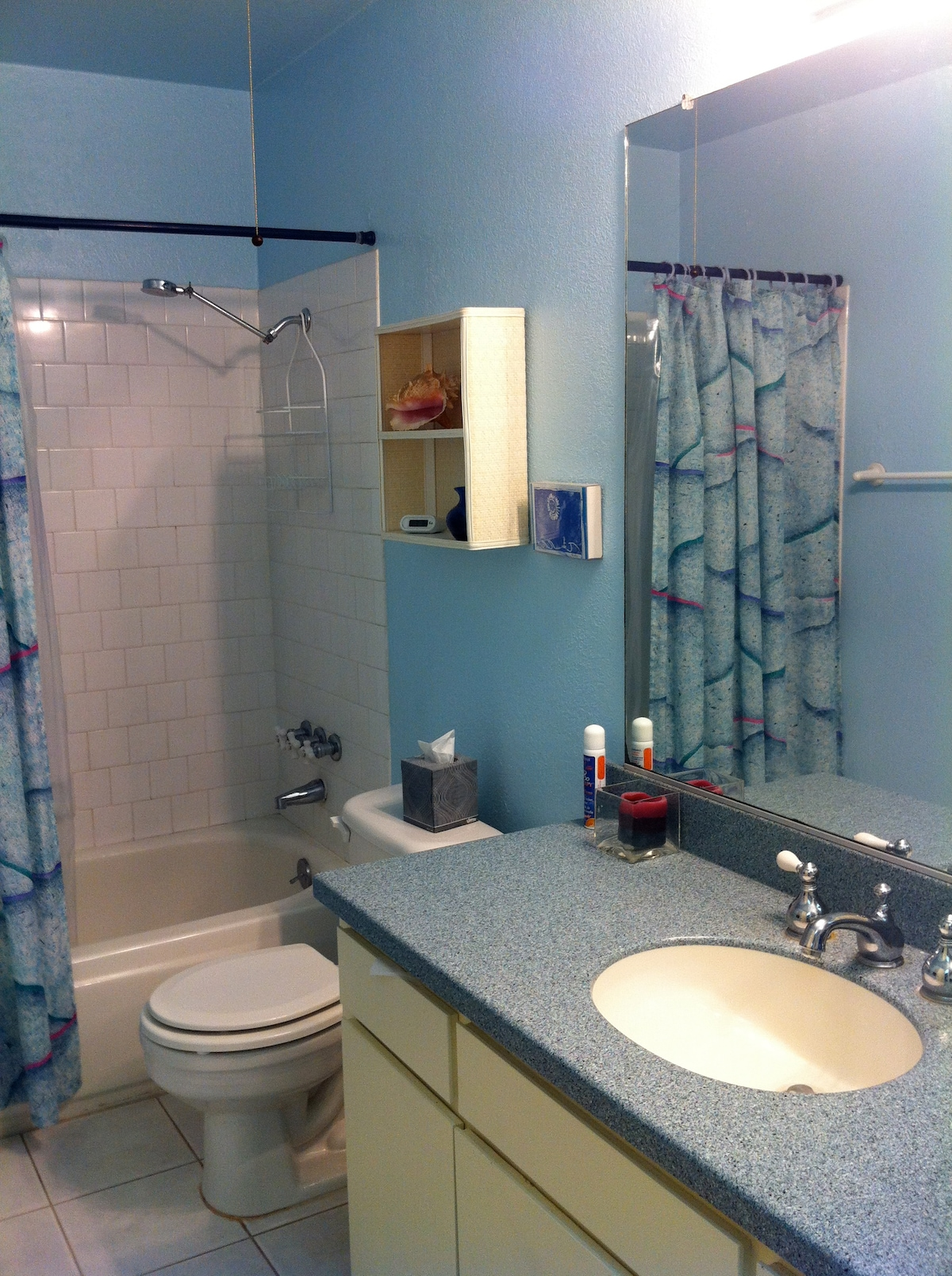 The full bathroom with tub.