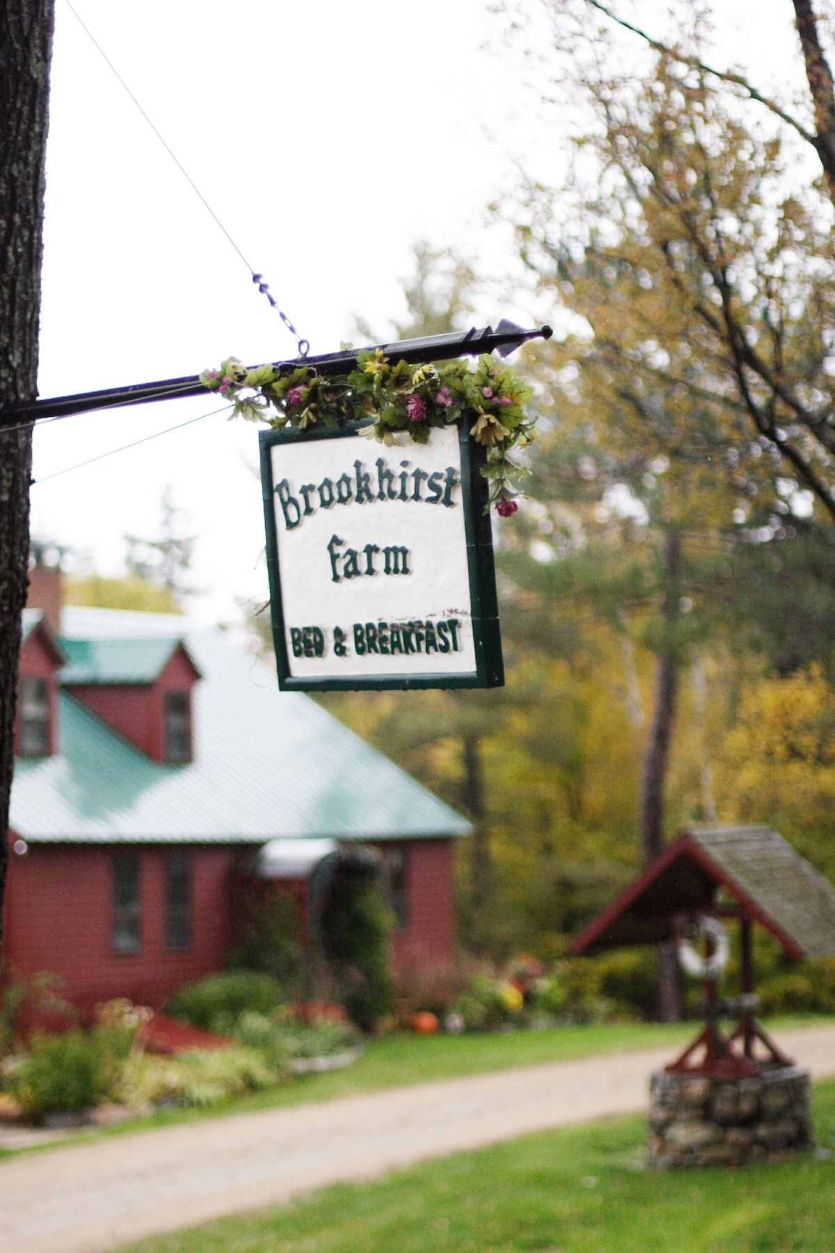 Brookhirst Farm B&B~Snowville, NH  ~sign of hospitality~
