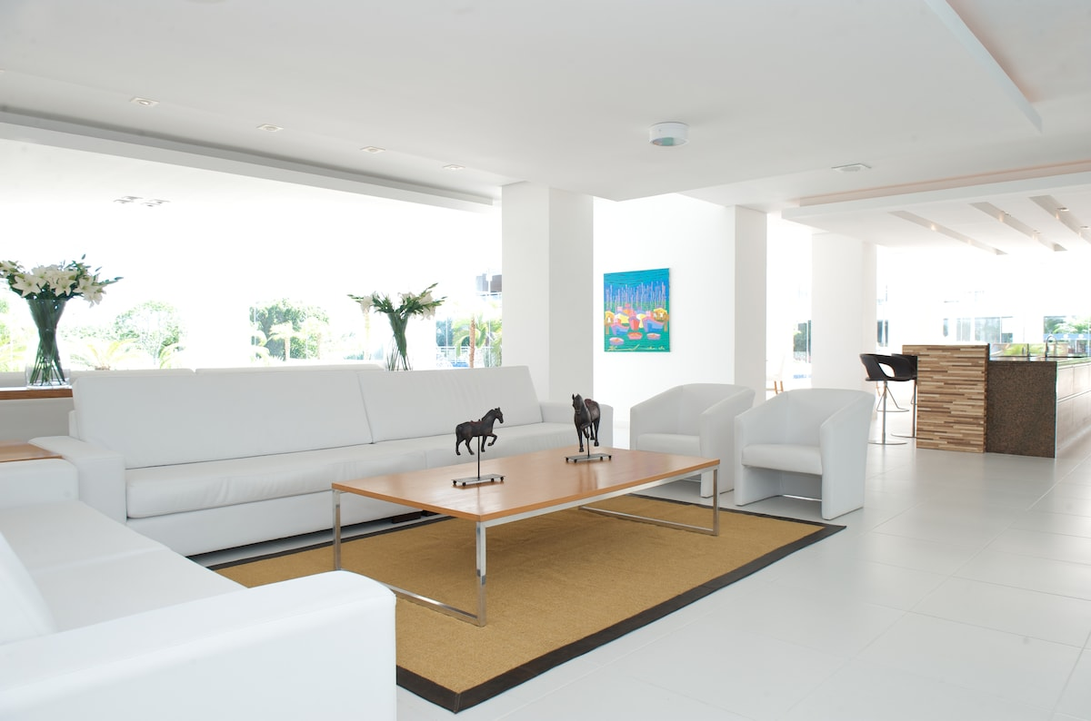 Enjoy the numerous designer furnished lounge areas  through out the private resort complex.