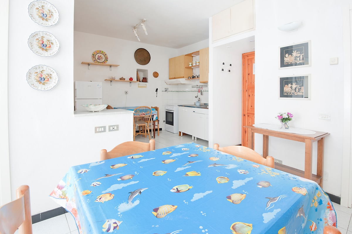 kitchen from the living