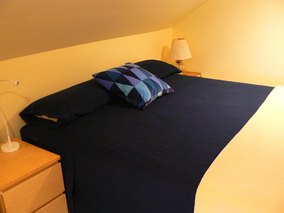 Comfy, Clean, Bright- Bed/Bath/LR
