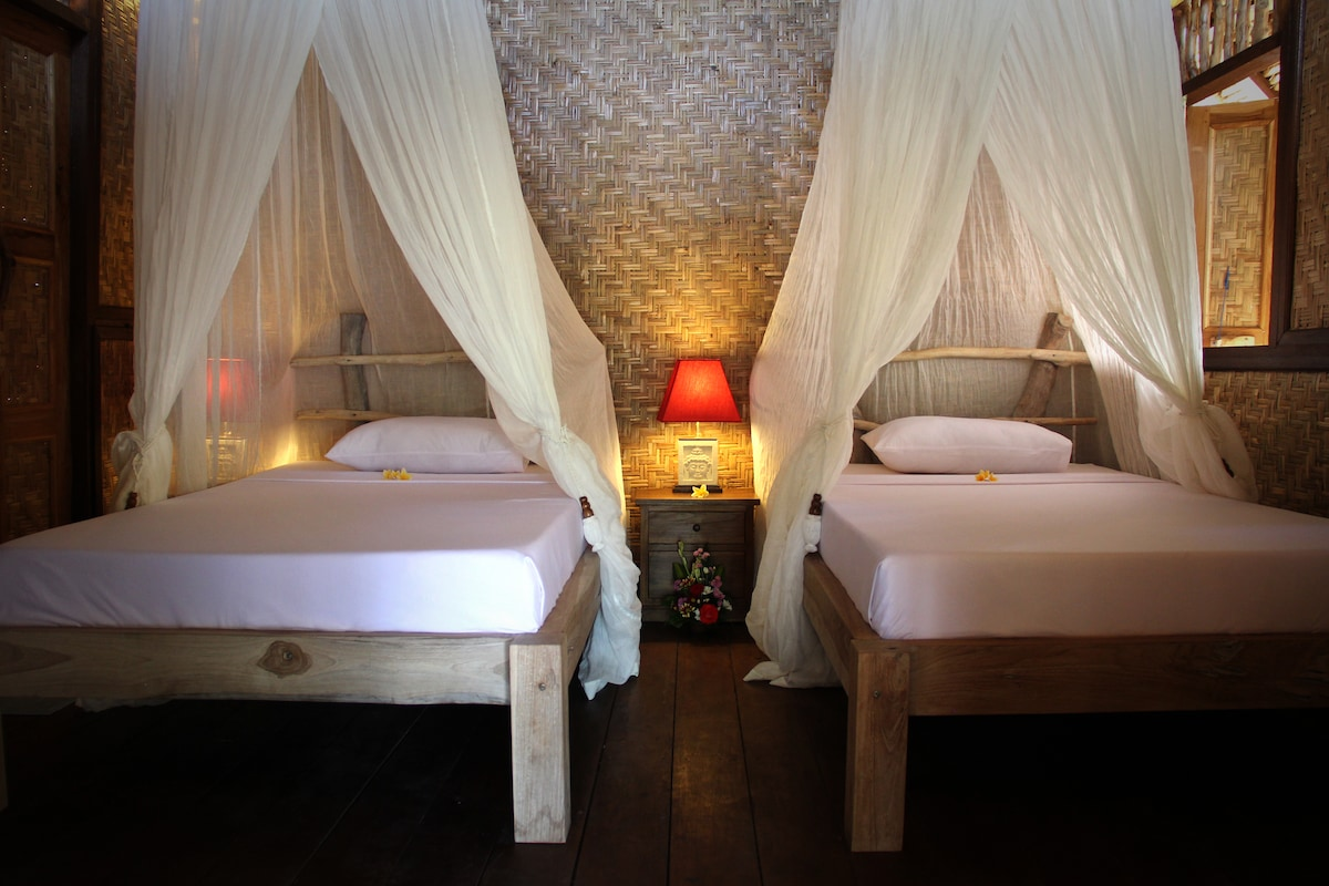 The Calmtree Bungalows, Twin Bed