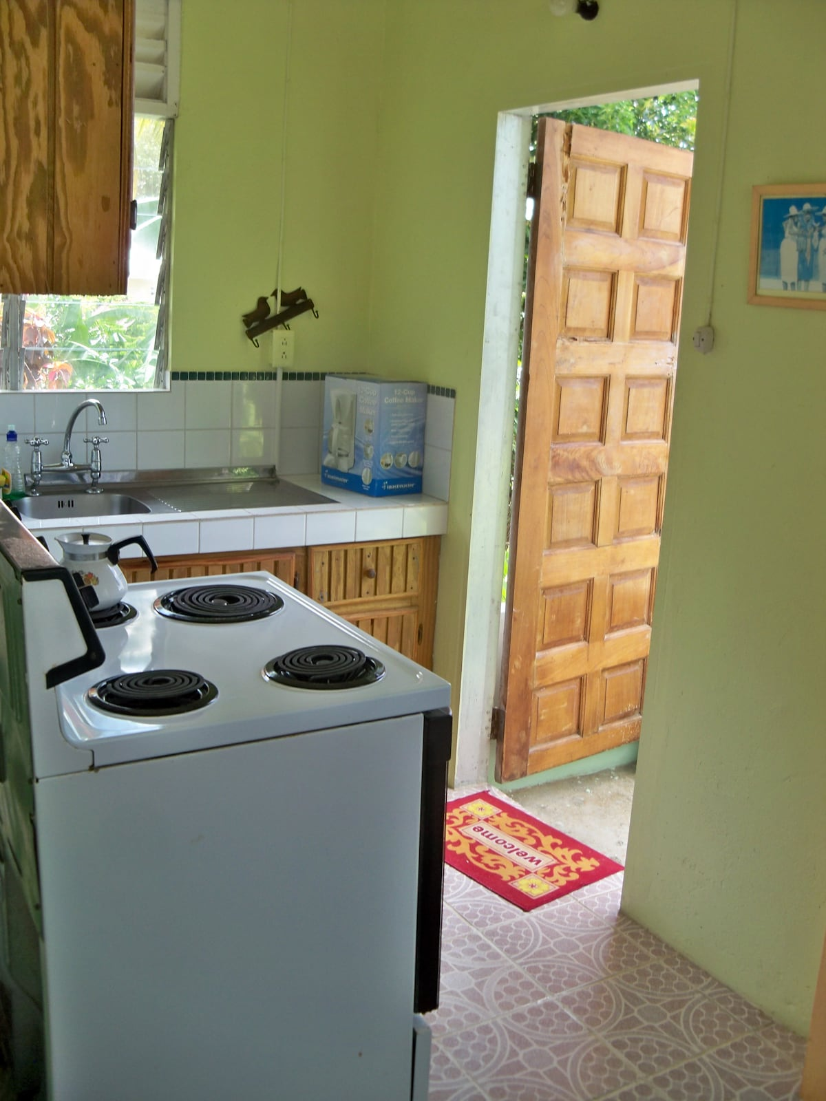 Small Kitchen With Back Door Open