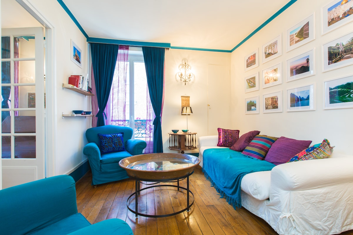 Welcome in our flat, you will enjoy a colorful and lighty stay in Paris