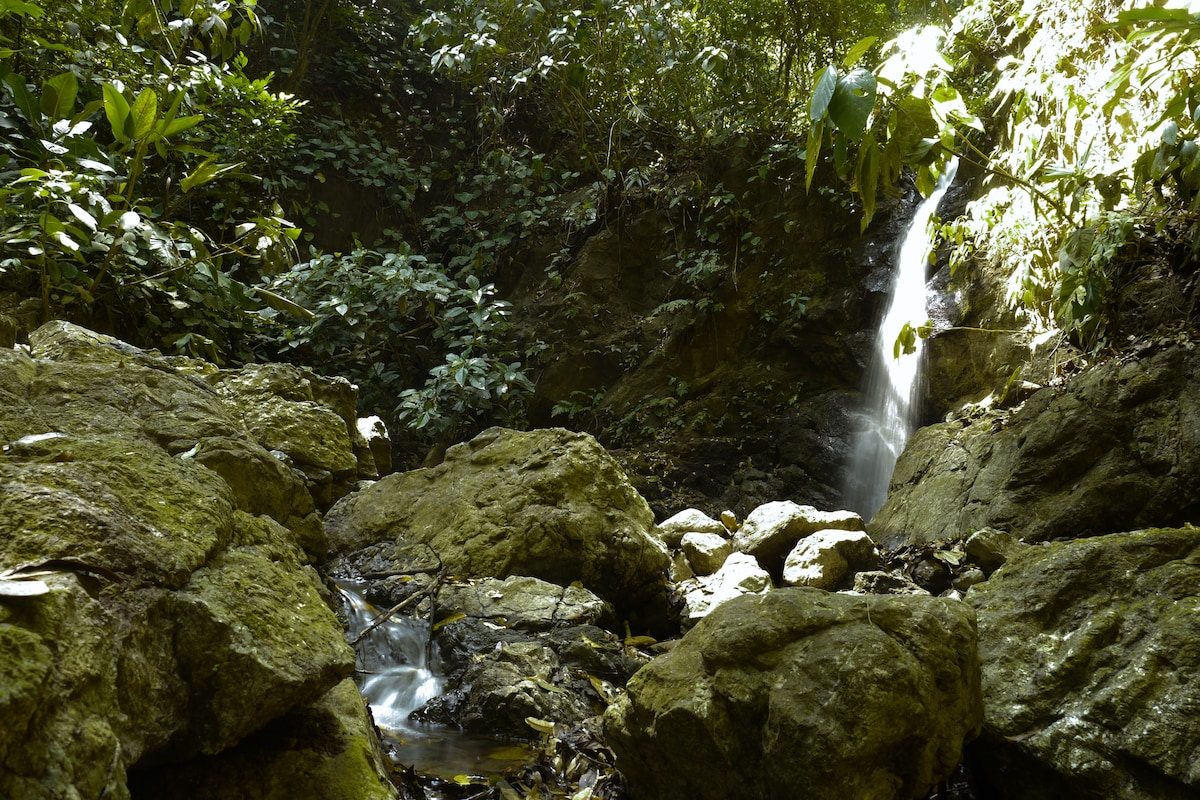 THis waterfall is s short hike from your private jungle cabin at Cabinas Ola Mar in Costa Rica's Osa Peninsula ( olamarcr [dot] com ).