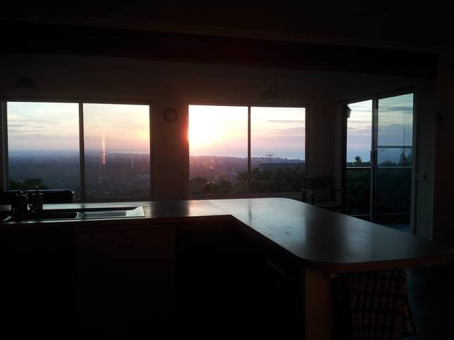 Sunset - views from the kitchen