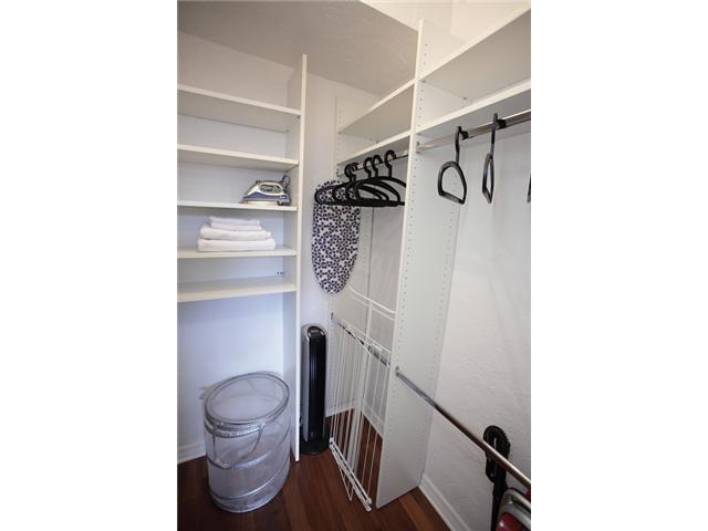 Spacious closet with ironing set