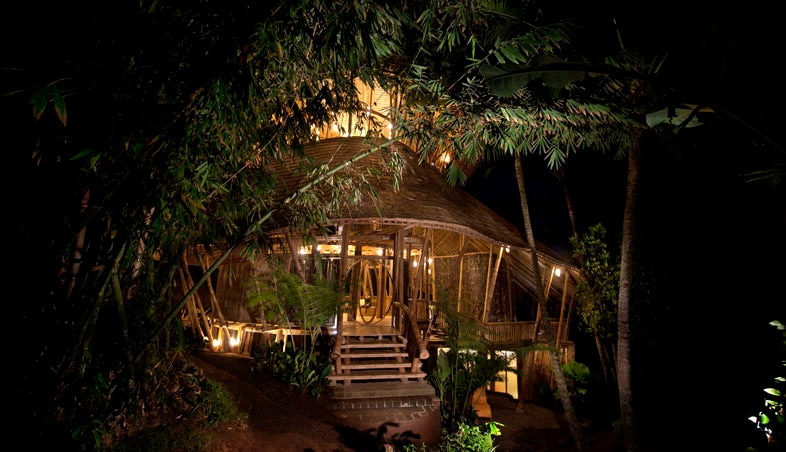 Palm Villa as seen at night is a magnificent sight!
