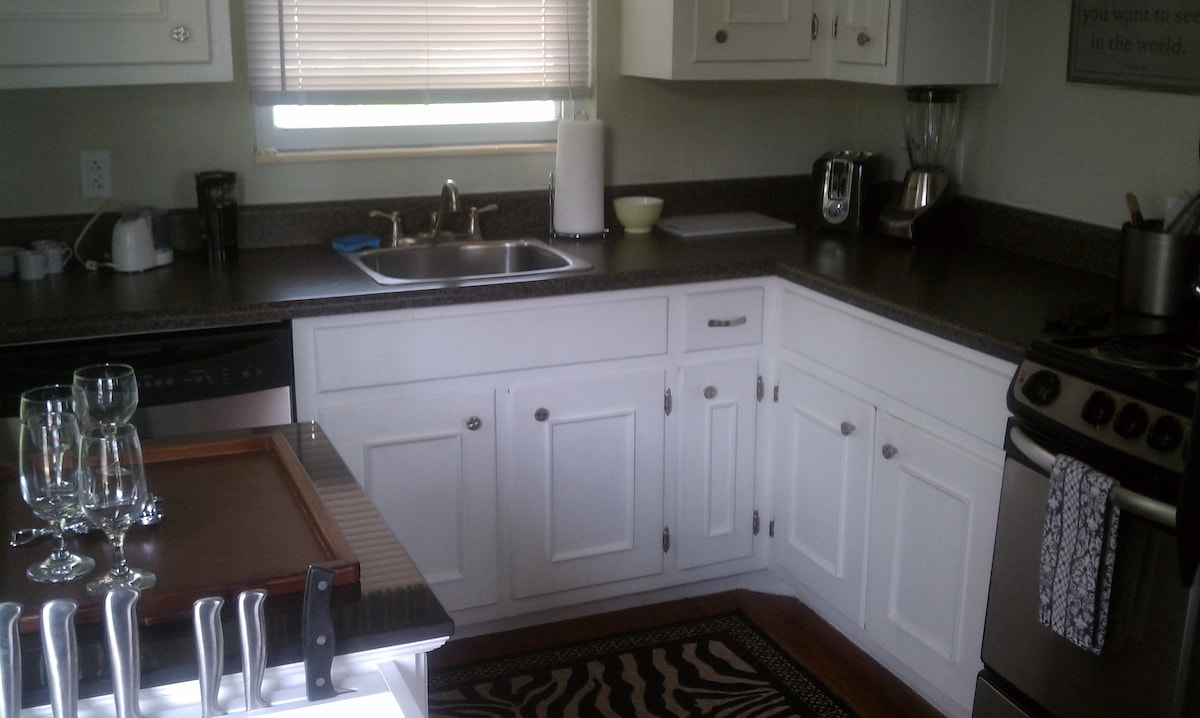 well-equipped, upgraded kitchen