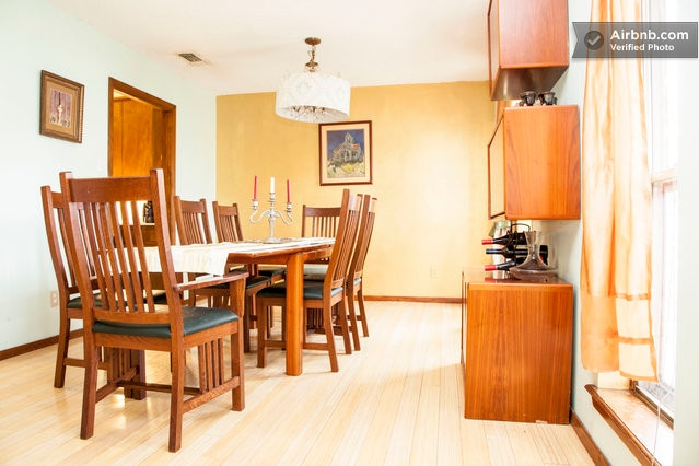 Formal Dining Area seats 8 to 10 comfortably.