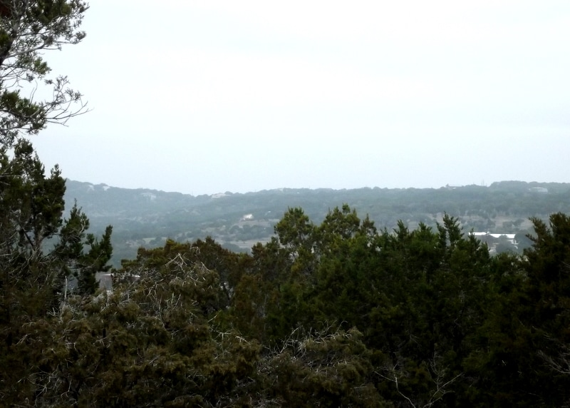 Beautiful long distance views of the Texas hill country