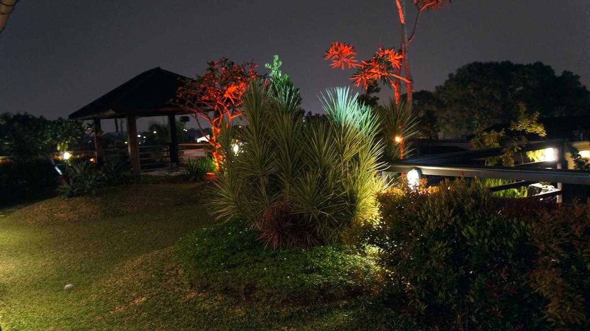 roof garden night view