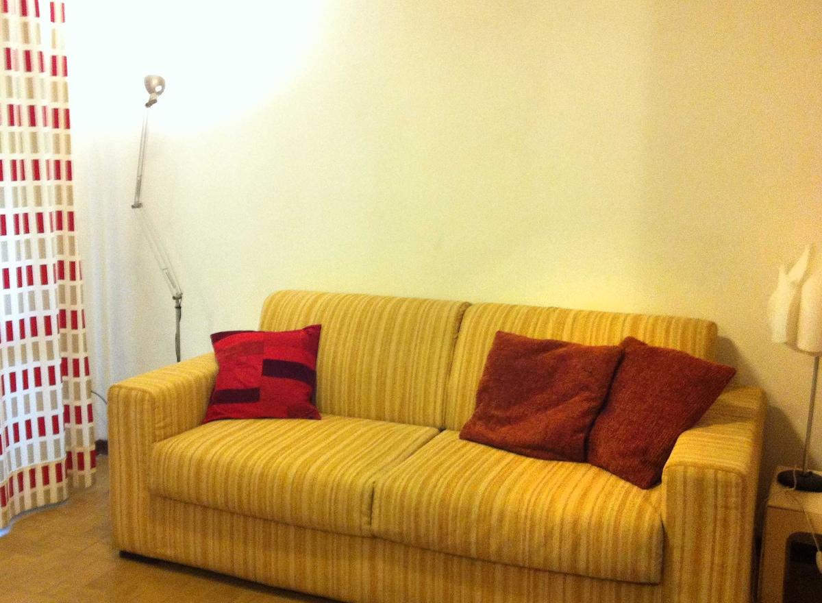 Main room - fold out sofa.
