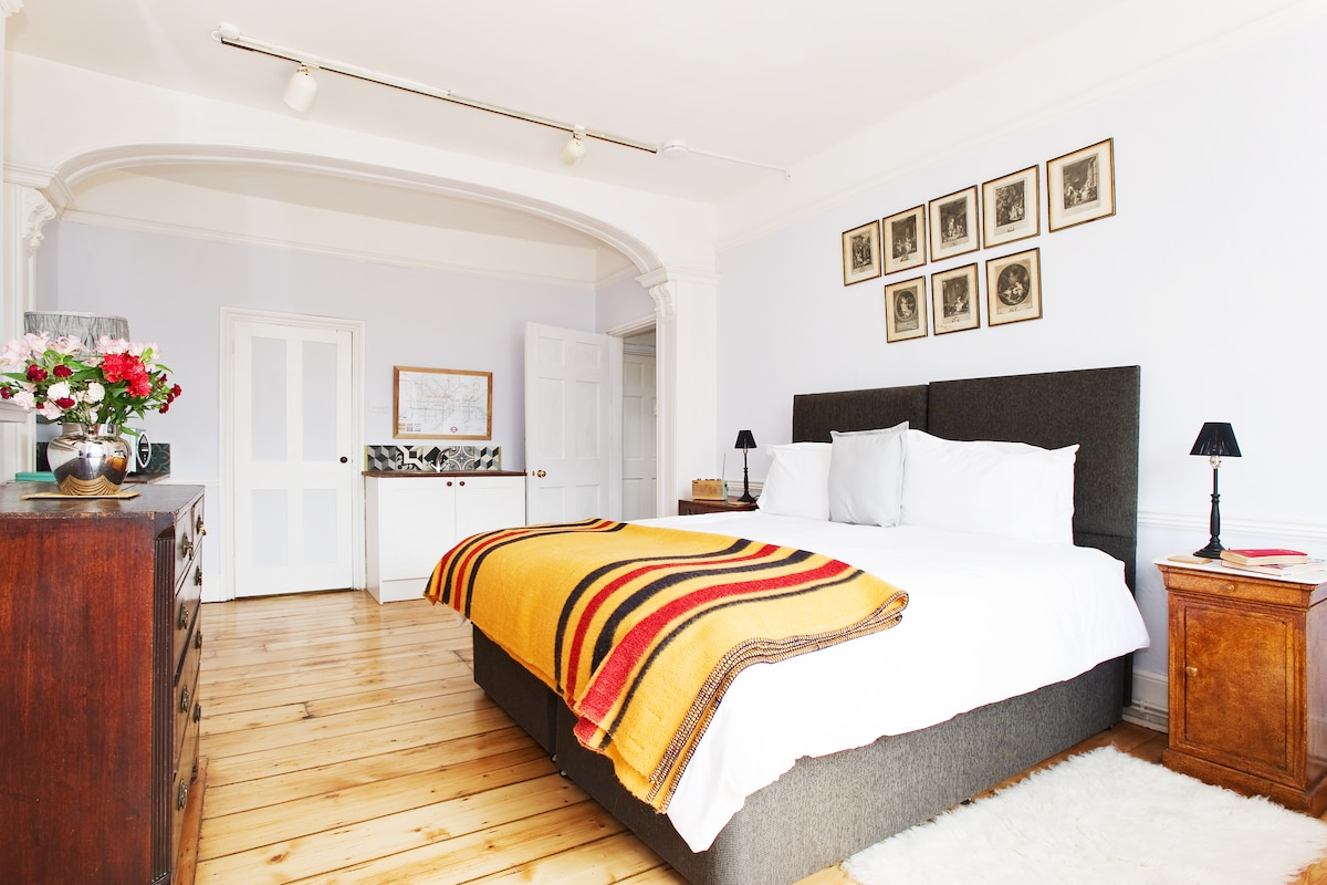 Wonderfully comfortable super-king size bed (can be made up as twin beds if preferred)