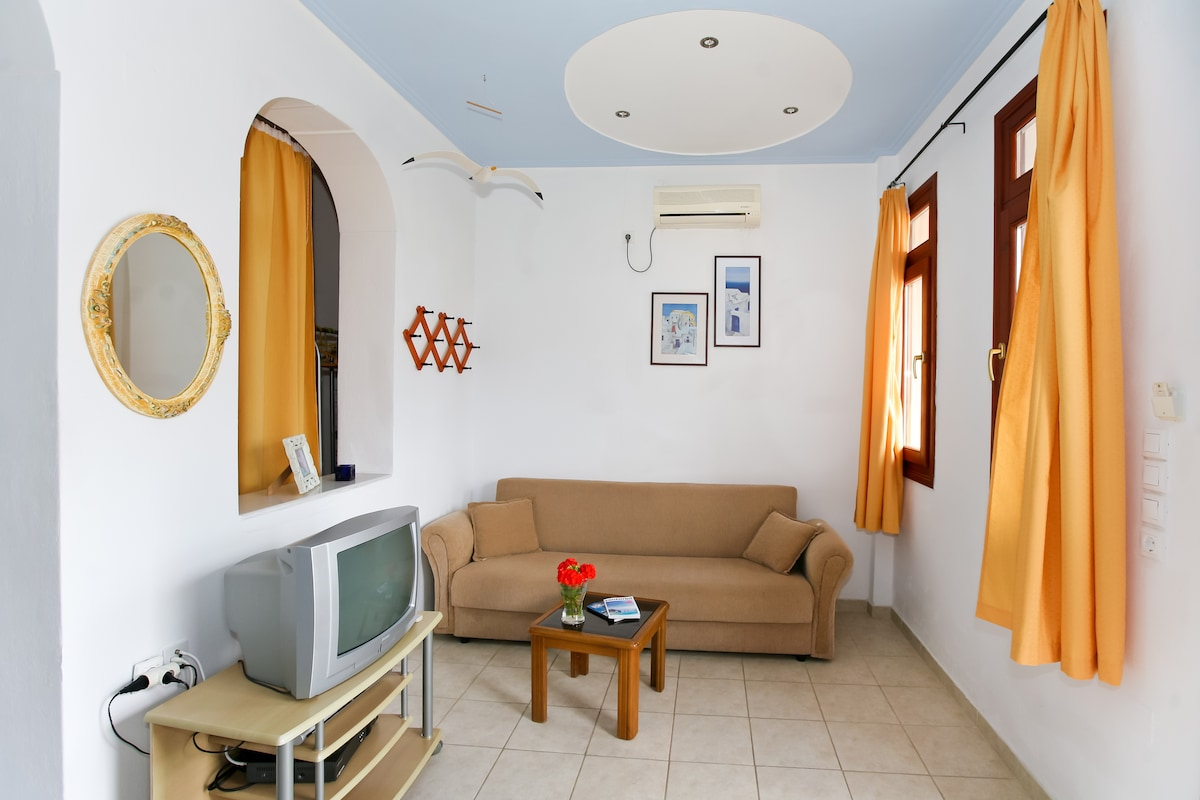 Double sofa and living room aerea