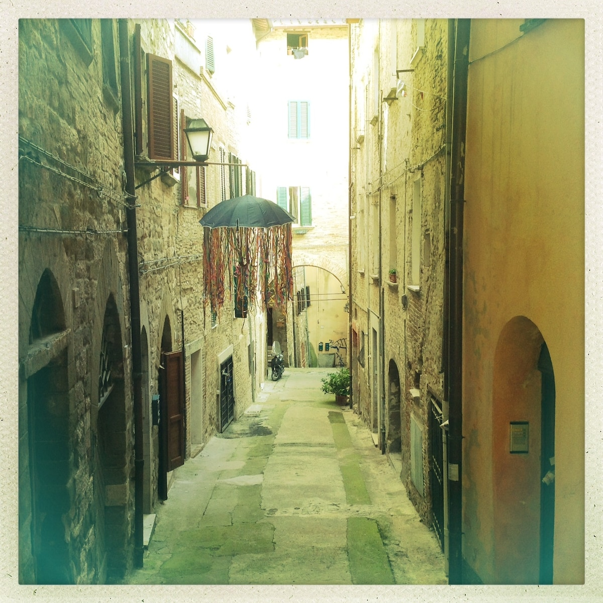 Via della Madonna, the street where the house is (in the city centre)