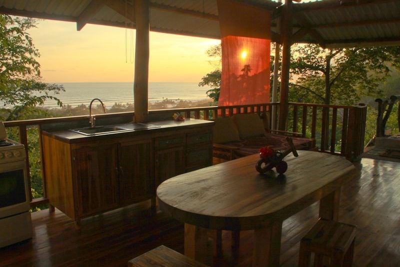 Cucina in terrazza apartamento OCEANO