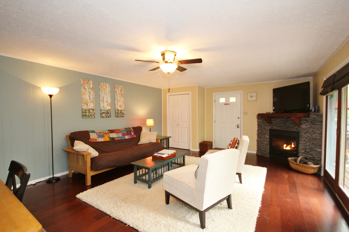 Living Room with gas-burning fireplace