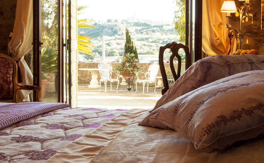 The superior rooms have a panoramic view of the Medieval City of Tarquinia