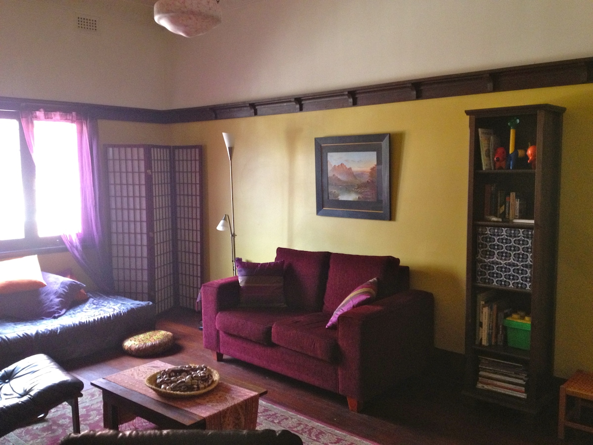 The lounge room - view from the hallway door.