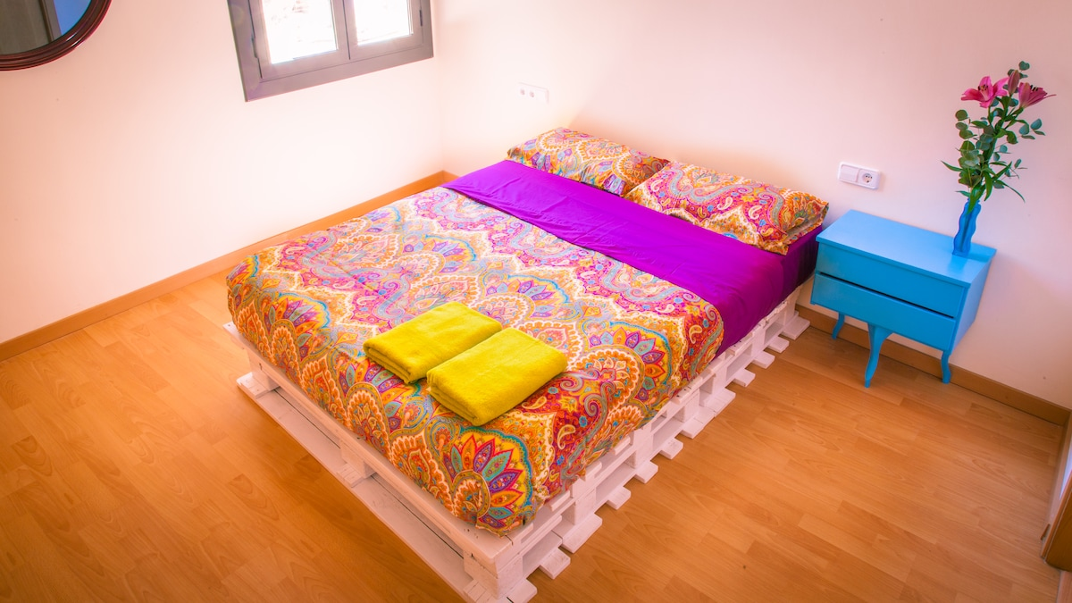 Double Bed hand made from pallets