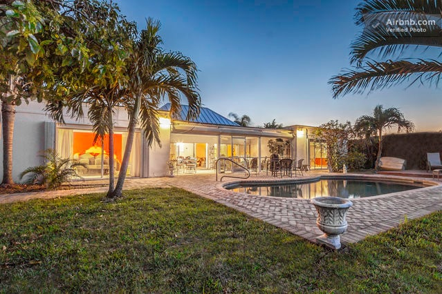 This is  a spacious Florida home and almost every room in the house has a water view.