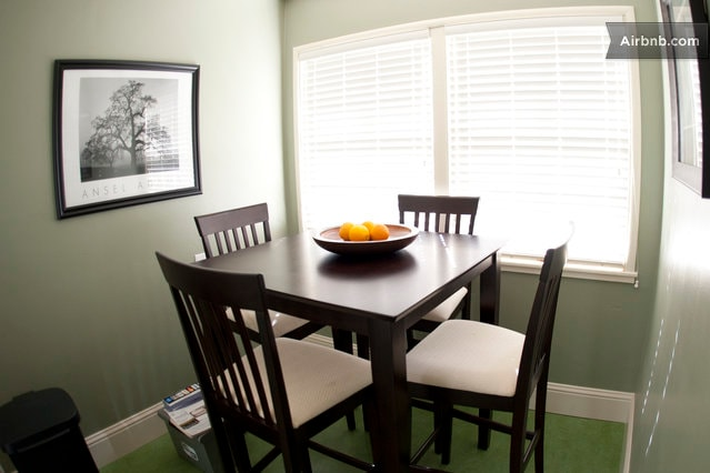 Sun lit kitchen table..enjoy a meal or a snack