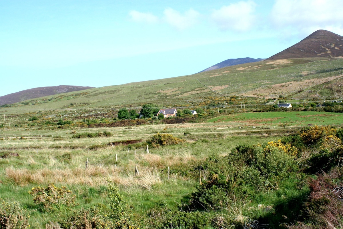 Our cottage against the mcGillycuddy reeks