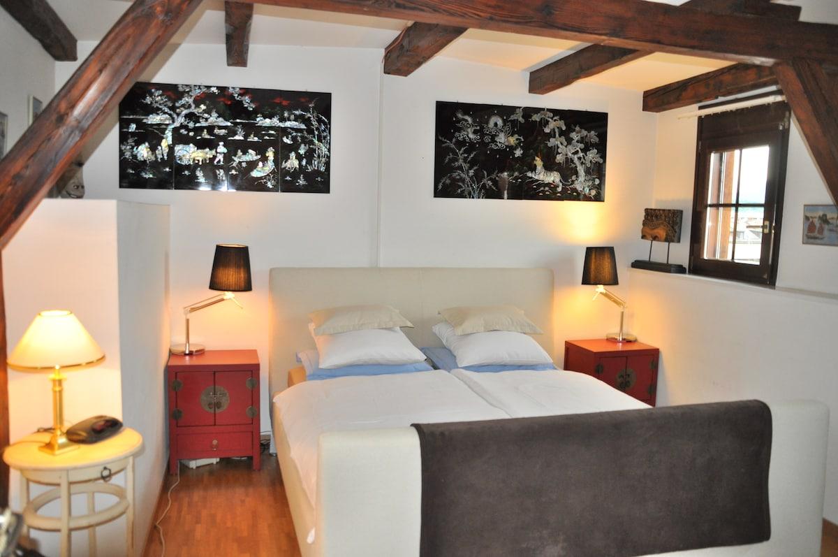 Voici votre chambre, un petit nid sous les toits