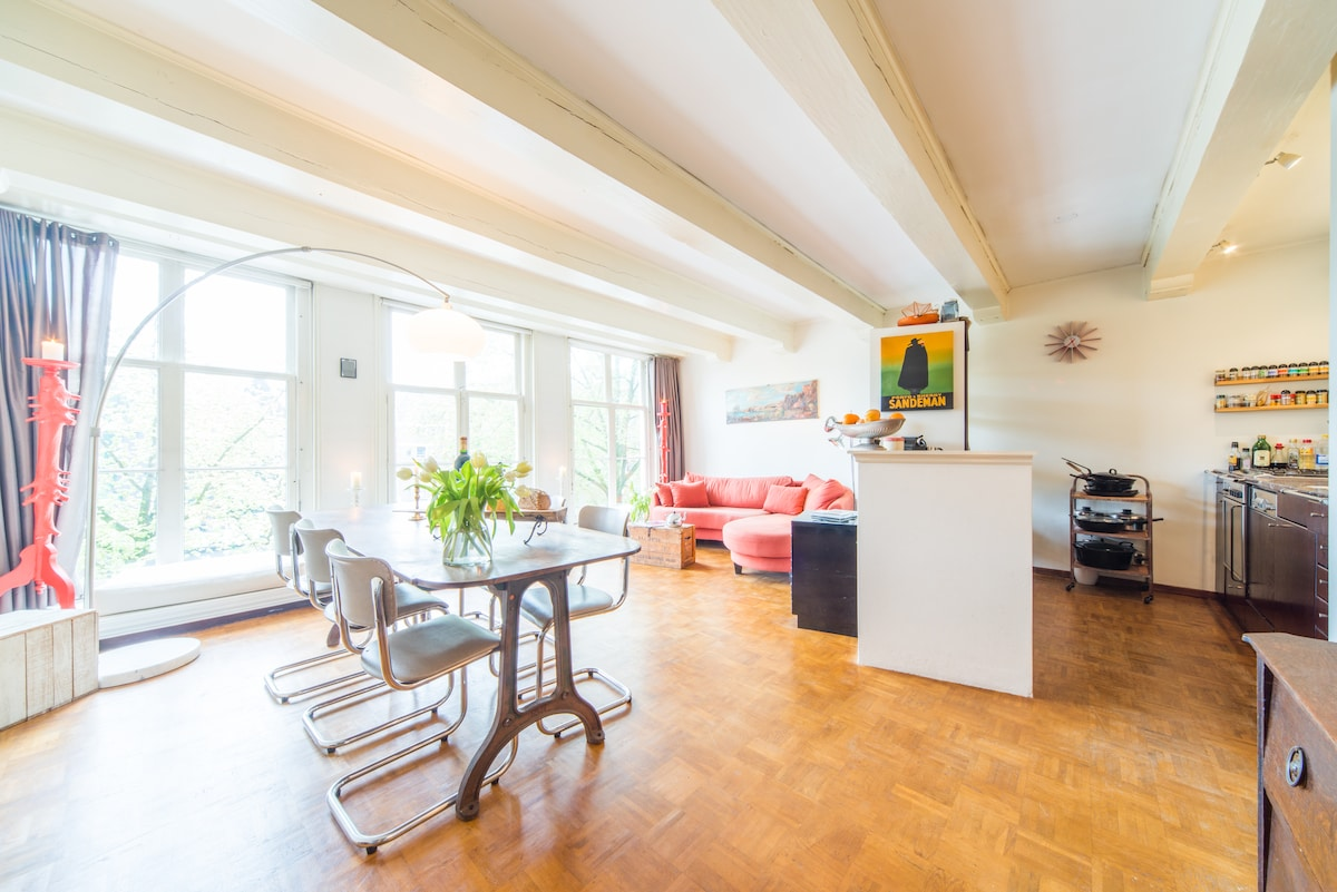 Historical canal apartment center