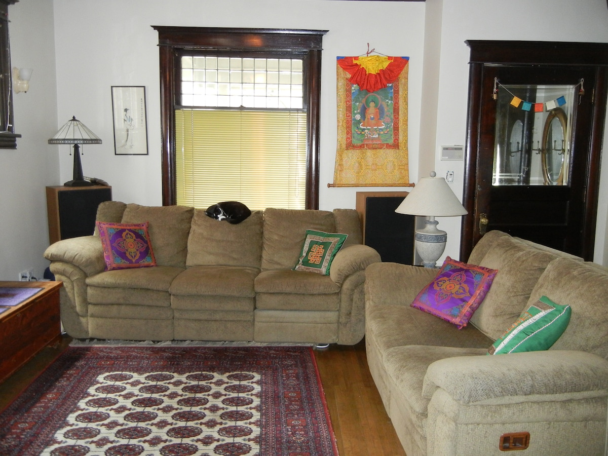Living Room (Our Cat Izzy is napping)
