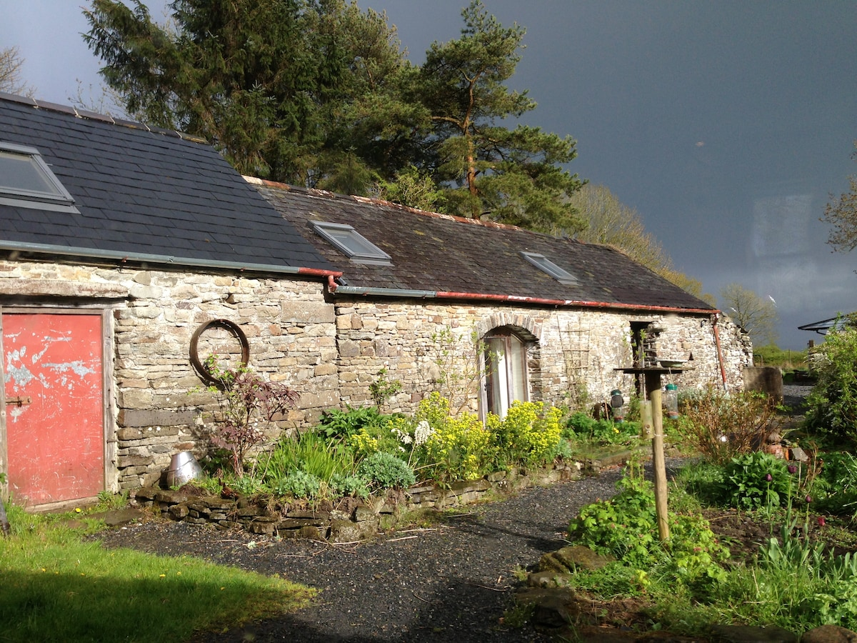 The Studio (middle door) on a thundery day