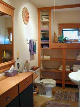 downstairs bathroom (West room)