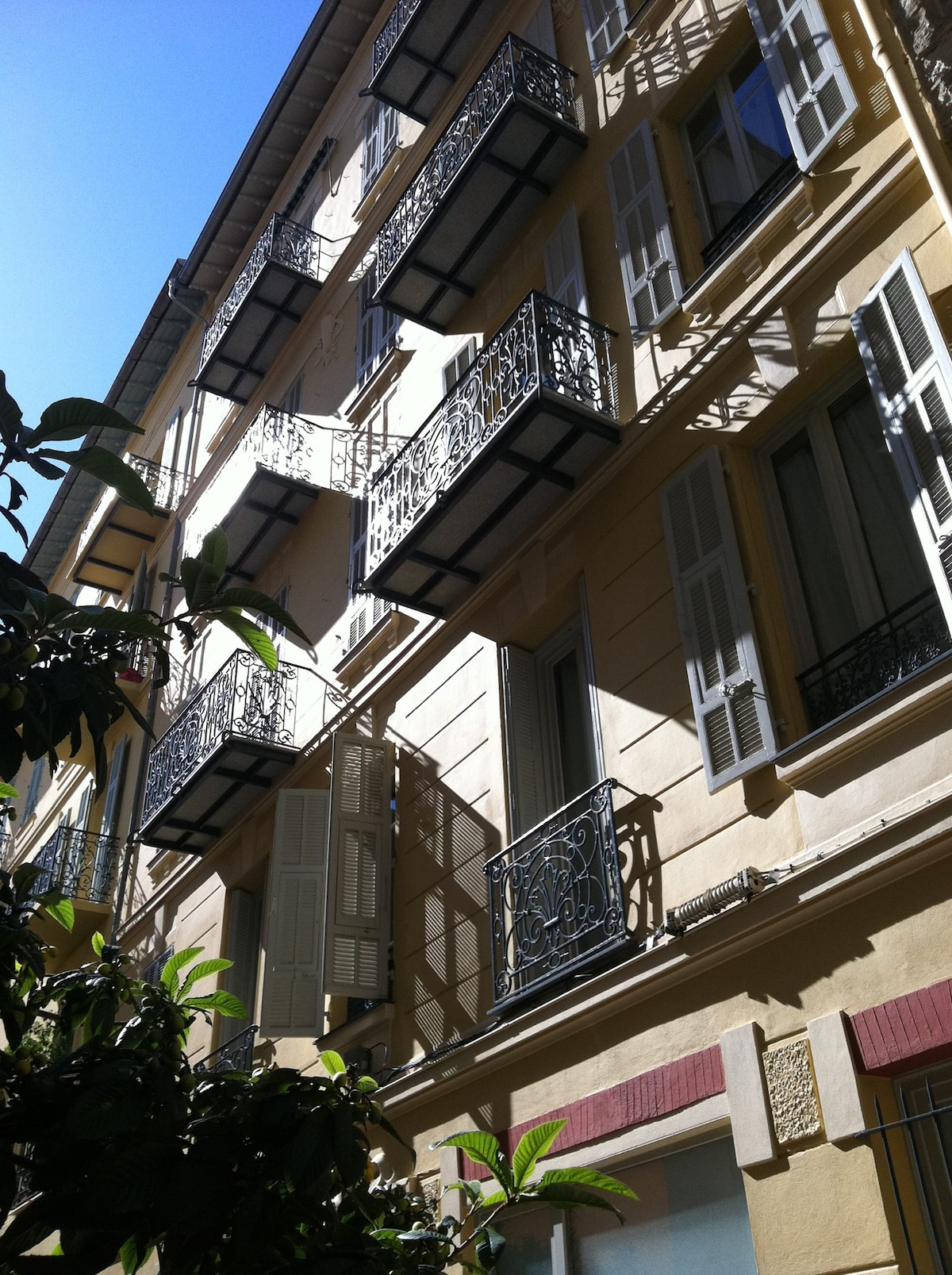 2 lovely quiet balconies.