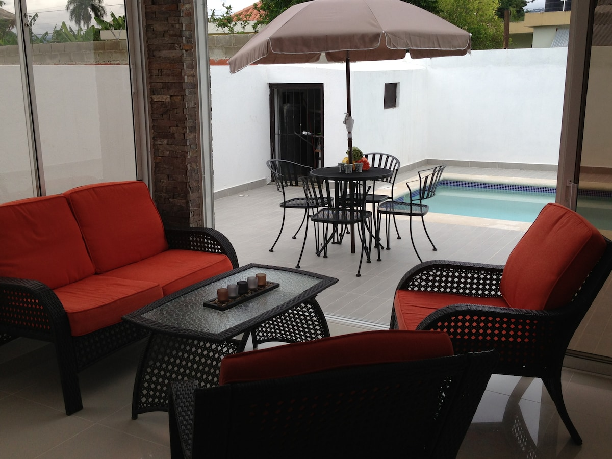Terrace Opens to the pool!!