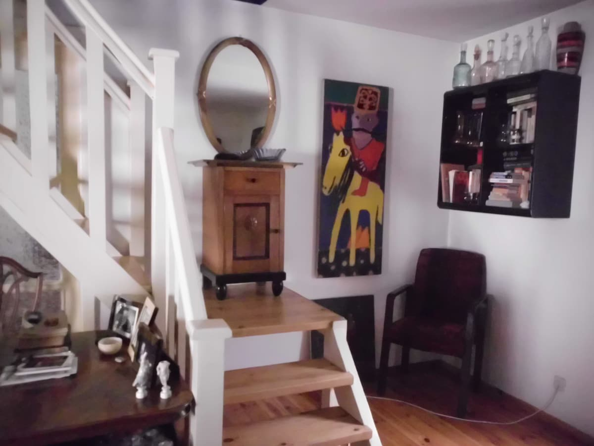 stairs to the guest room