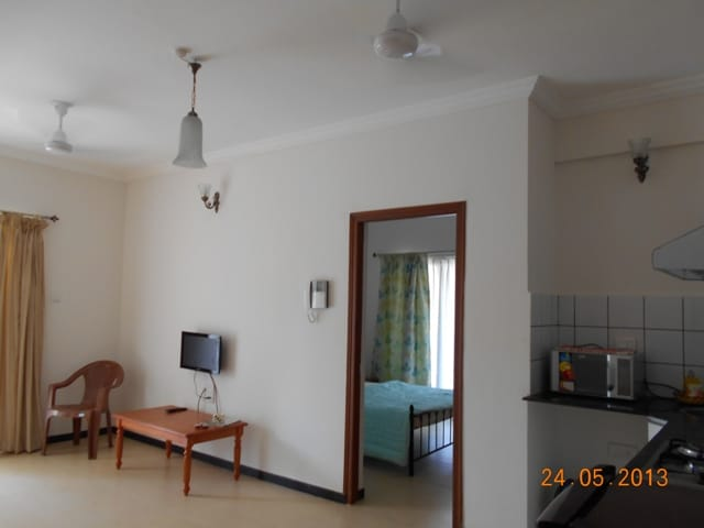 Bright, airy and comfortable- This 1 BHK apartment is perfect for a relaxed day indoors just metres away from the famous Baga beach