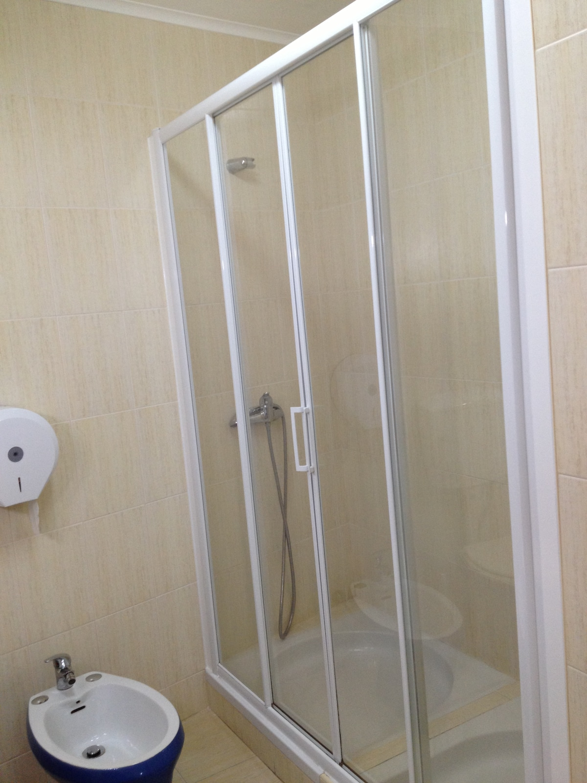 Shared Double Shower Bathroom