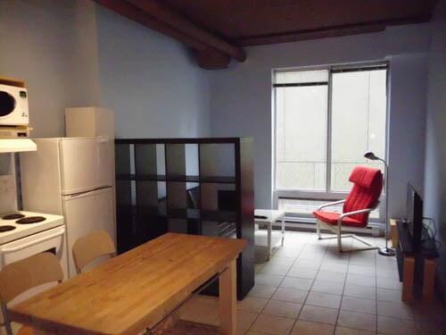 Spacious, open-plan apartment.