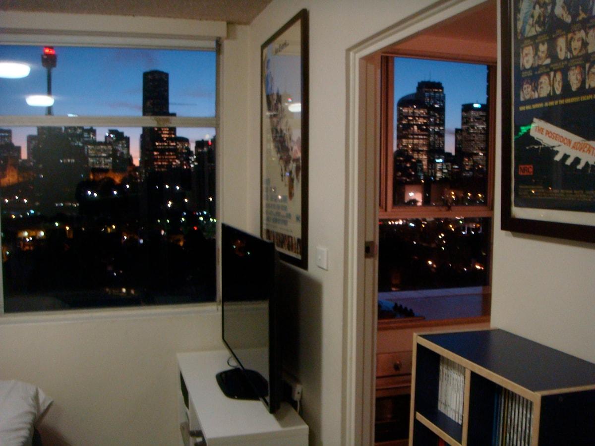 Superb studio with stunning views