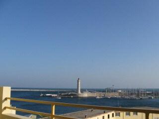 La vue de la terrasse sur le Mole ,le port de plaisance et la Mer