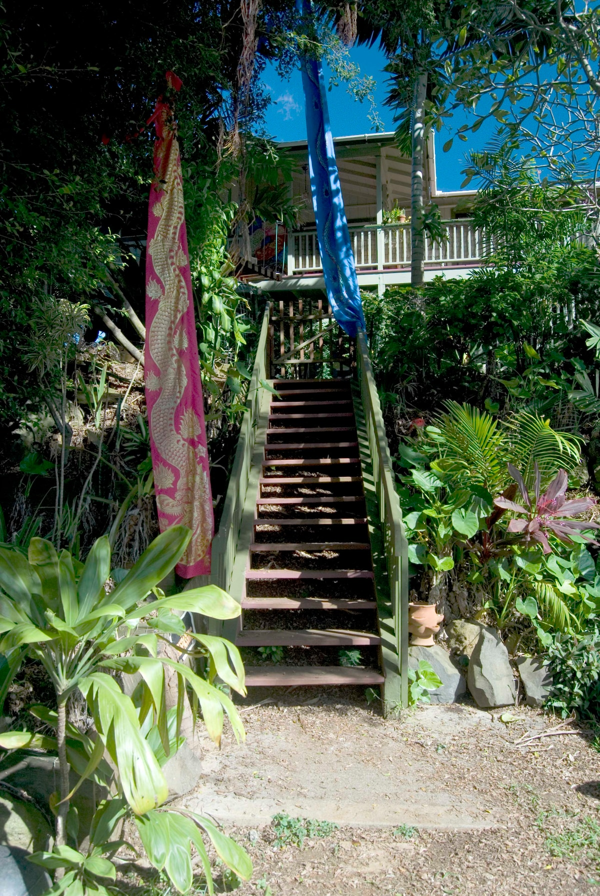 Stairway to our little tuck-in piece of Paradise:)